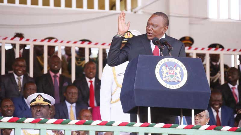 Tổng thống Uhuru phát biểu trong ngày kỷ niệm Heroes' Day – Nguồn: Stardard Media